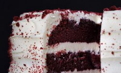 Red Velvet Cake Mix with Rainbow Frosting Cream Cheese