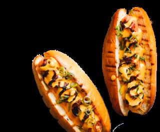 Nacho Cheese Sauce hotdogs