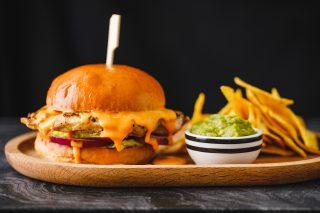 Nacho Cheese chicken burger