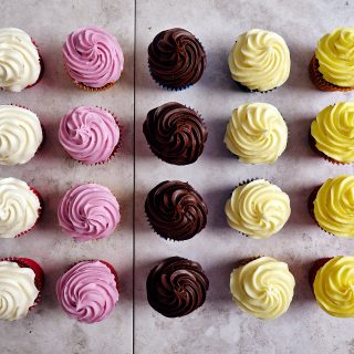 Cupcakes with Rainbow Frosting