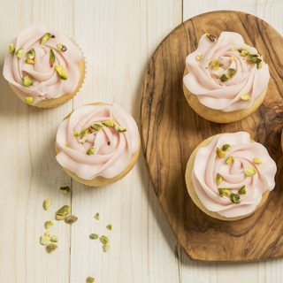 Pistachio & Rosewater cupcakes