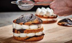 Macphie Plant-based Cream Alternative with Vegan Chocolate Muffin & Cake Mix and Sweet Snow